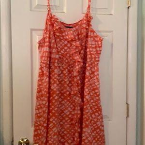 Lane Bryant coral dress